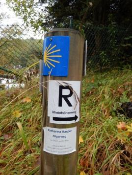 6 Wegbegleiter Rheinhöhenweg, Jakobsweg und Pilgerweg