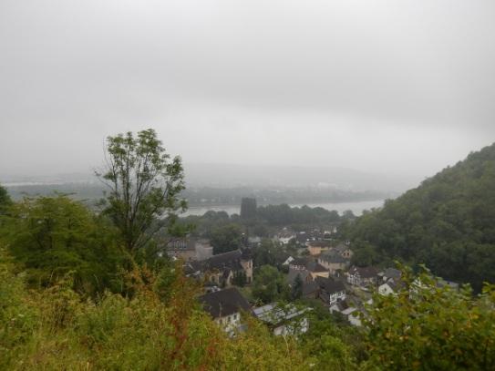 Blick hinunter auf Kasbach
