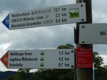 Beginn des Westerwaldsteigs