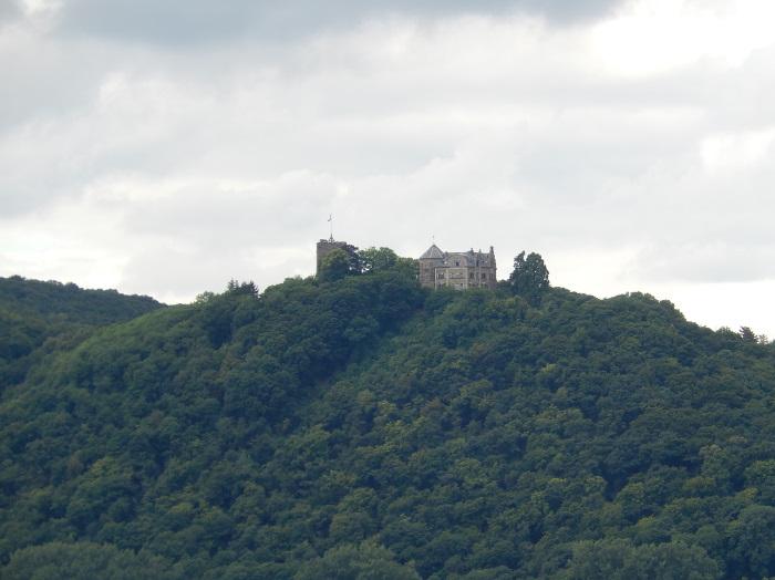 Blick zur anderen Rheinseite, Burg Rheineck