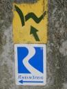 Westerwaldsteig-Zuwegzeichen