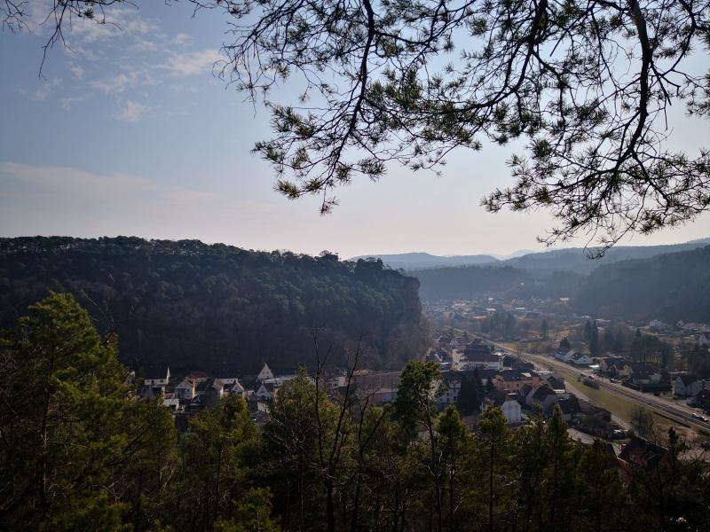 Aussicht vom Bubenfelsen