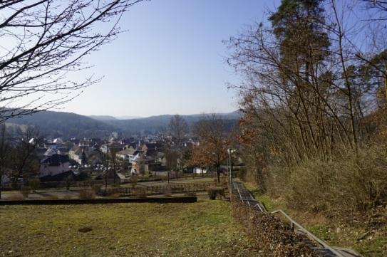 Oberhalb des Friedhofs von Dahn