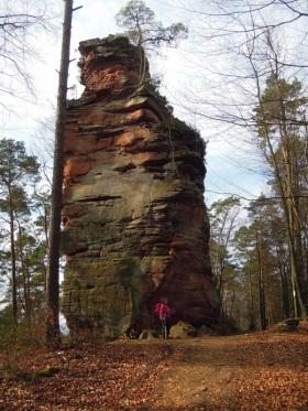 Größenvergleich am Römerfelsen (c)Doris