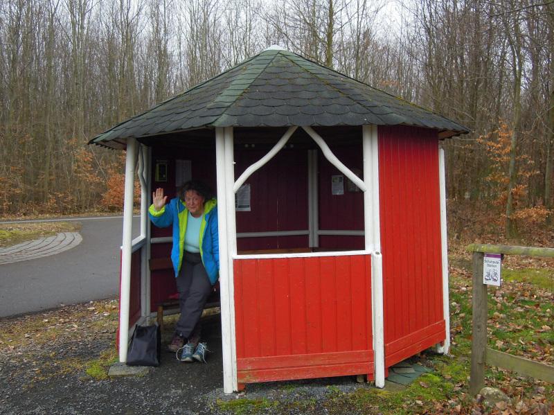 Hütte am Parkplatz Steffenshof (c)Doris S