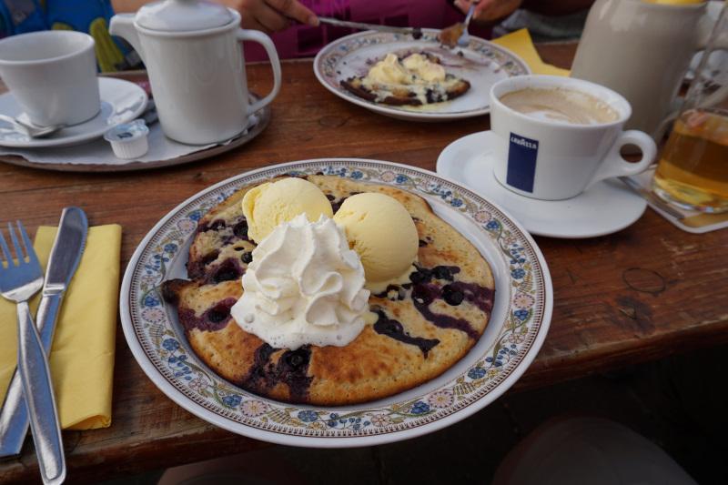 Leckerer Heidelbeerpfannkuchen in Ripsdorf