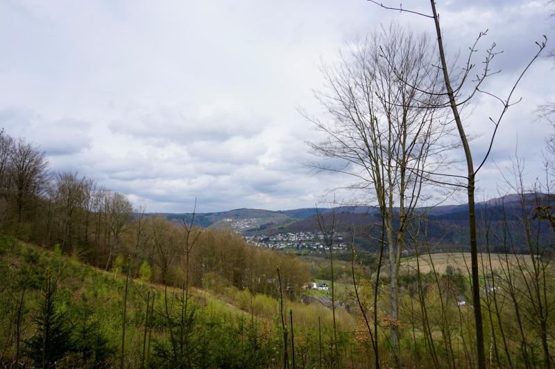 Natursteig Sieg, Blick nach Freusburg