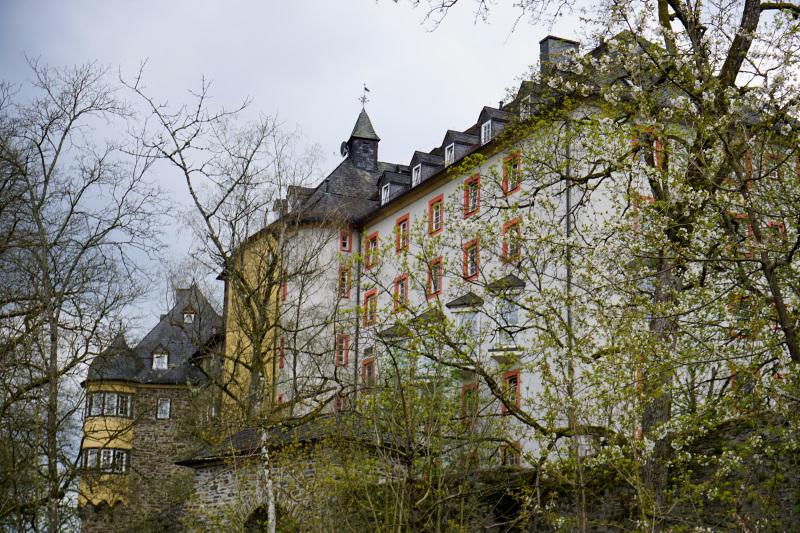 Durch das noch zarte Grün der Bäume konnte man die Burg gut erkennen